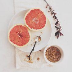 Grapefruit and brown sugar.