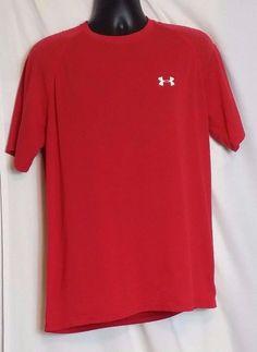 Under Armour Heat Gear Red Polyester Blend T Shirt Size M #UnderArmour #ShirtsTops