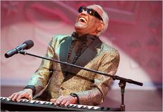 Ray Charles Robinson was an American singer-songwriter, musician and composer known as Ray Charles. He was a pioneer in the genre of soul music during the by fusing rhythm and blues, gospel Ray Charles, Music Icon, Soul Music, Music Life, Jazz Music, John Dye, Robert Wood Johnson, Luther Vandross, Piano Man