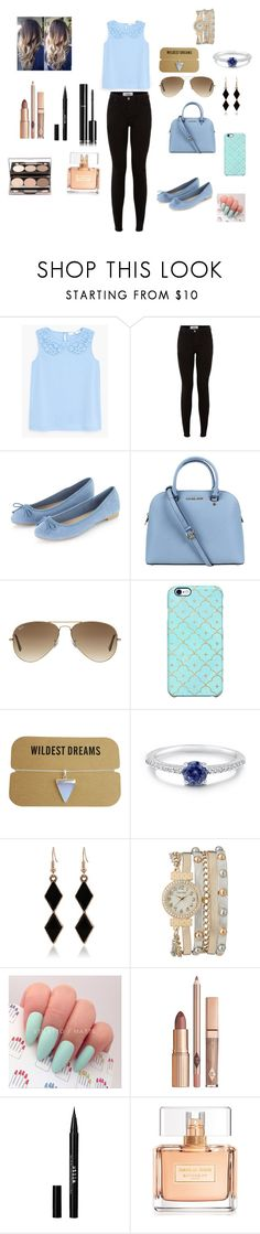"""Lunch with friends"" by menna121 ❤ liked on Polyvore featuring MANGO, New Look, Michael Kors, Ray-Ban, Uncommon, BERRICLE, maurices, Stila, Nude by Nature and Chanel"