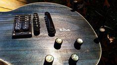 KJug Guitars Original Barn Door Black and Blues Electric Guitar #KJugGuitars