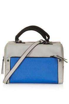 Colour Block Bowler Bag