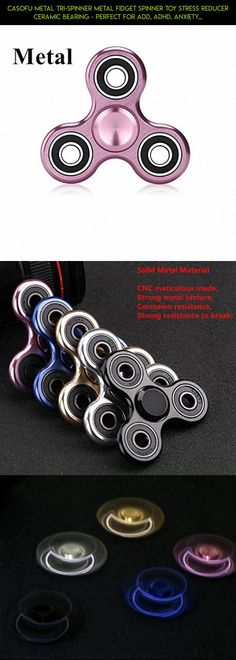 CASOFU Metal Tri-Spinner Metal Fidget Spinner Toy Stress Reducer Ceramic Bearing - Perfect For ADD, ADHD, Anxiety, and Autism Adult Children ,Pink - B #metal #parts #spinner #racing #products #plans #fpv #pink #tech #technology #camera #gadgets #shopping #kit #drone