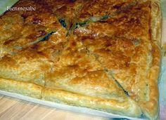 Empanada de espinacas, champiñones y atún