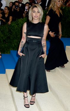 Met Gala 2017 : les tenues les plus incroyables du tapis rouge...Paris Jackson en Calvin Klein by Appointment. (New York, le 1er mai 2017.)