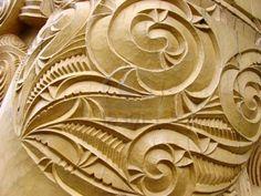 Photo about Maori Sculpture Art In New Zealand. Image of maori, mystic, historic - 4386214 Wood Carving Patterns, Wood Carving Art, Carving Designs, Wood Art, Wood Carvings, Art Maori, Art Sculpture En Bois, Gravure Metal, Maori Patterns