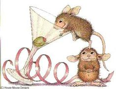 """""""Mudpie and Maxwell"""" from House-Mouse Designs® featured on the The Daily Squeek® for January 11th, 2013. Click on the image to see it on a bunch of really """"Mice"""" products."""