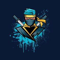 Design Discover Gamer Blue Ninja NinjasHyper Kids Sweatshirt Gamer Blue Ninja NinjasHyper Kids Sweatshirt by TrapMonkie - Cloud City 7 Wallpaper Gamer, Ninja Wallpaper, Gaming Wallpapers, Team Logo Design, Logo Desing, Logo D'art, Ninja Logo, Mobile Logo, Esports Logo