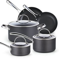 Cooks Standard 02487 8 Piece Hard Anodize Nonstick Cookware Set, Black *** Remarkable product available now. : Cookware Sets