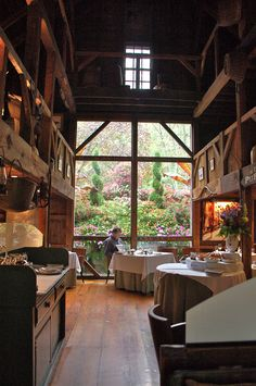 WHITE BARN INN • Kennebunk, MAINE • Coastal New England Cuisine • Situated in two restored 1820's barns dating from the 1820′s, this restaurant has a rustic decor, white linen tables, candlelight, and views from floor to ceiling picture windows. Four course prix fixe meal. • 207-967-2321• www.whitebarninn.com/kennebunkport-maine-restaurants/