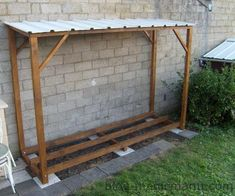 Outdoor Firewood Rack, Firewood Shed, Firewood Storage, Backyard Projects, Outdoor Projects, Wood Storage Sheds, Wood Store, Lean To, Home Landscaping