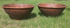 """Lightweight Large Cone Pot 46""""W x 20.5""""H    26lbs.   Item # 2035  Custom Colors Available Shown In Antique Terracotta"""