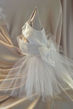 Dog Wedding Dress by YvettesLittleShop on Etsy