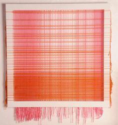 "Erika Elk ""drawing with thread sideways"" cool take on the string art idea"