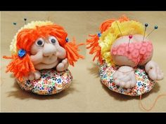 Cute Popes and Face Pincushions - Videotutorial