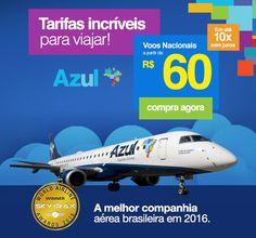 Tarifas Incríveis AZUL: Voe a partir R$60!   http://www.rumonet.com.br/site/pagina/passagens-aereas-azul/ e garanta já sua reserva!