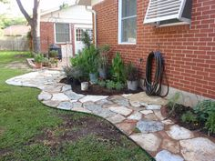 Omg i want to do for the dirt path i have in yard along house to patio   Chapter 3 of DIY garden renovation series – Natural Limestone Path