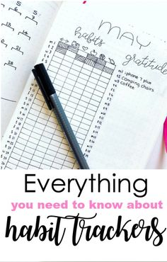 Habit Tracker examples, printables, ideas, and more for your bullet journal Bullet Journal Tracker, Bullet Journal Hacks, Bullet Journal Printables, Bullet Journal How To Start A, Bullet Journal Spread, Bullet Journal Layout, Bujo Inspiration, Bullet Journal Inspiration, Journal Prompts