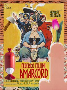 AMARCORD by Federico Fellini (1973)   #fellini #amarcord #movie #italianfilm #playbill #fun #design #graphic #dolcevita #design #designer #designinspiration #designporn #interiordesign #interiorarchitecture #italiandesign #fineliving #duplexdsgn #duplexportfolio #sottsass #bdbarcelona #bosa #assoulinelichten #cctapis #CTRLZAK #cinema #theater