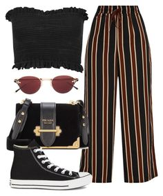 A fashion look from October 2017 featuring ruched top, brown pants and black high tops. Browse and shop related looks. Girls Fashion Clothes, Winter Fashion Outfits, Edgy Outfits, Retro Outfits, Cute Casual Outfits, Simple Outfits, Cute Fashion, Look Fashion, Mode Pastel