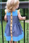 Free sewing patterns for kids  German Sewing summer dress with ruffles and buttons