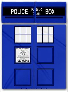 NEW Doctor Who TARDIS Bedding Set! I so want.