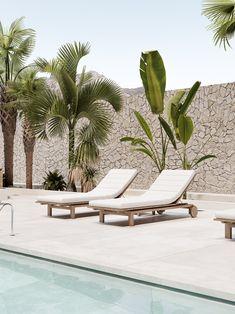 Greece Villa on Behance Design Patio, Design Exterior, Interior And Exterior, Outdoor Spaces, Outdoor Living, Outdoor Decor, Moderne Pools, House Goals, Pool Designs