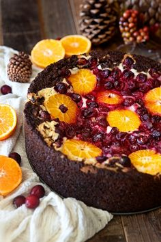 Cranberry Orange Spice Cake with Citrus Cream Cheese : You won't believe how incredible every single bite of this cake is! This is my favorite holiday and Christmas cake of all time. Love!
