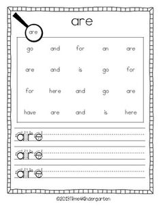 Sight Word Sleuth; also use with just letters or with spelling words for older kids