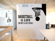 Basketball is Life Wall Decal basketball wall by SportsVinyl, $29.00