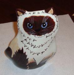 "The Ragdoll Cat Handpainted Ceramic Cat Vase by Nina Lyman 8"" New | eBay"
