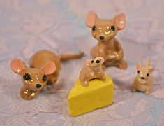 Your place to buy and sell all things handmade Baby Mouse, 2nd Baby, Collectible Figurines, Rubber Duck, Gray Yellow, My Etsy Shop, Christmas Gifts, Bunny, Miniatures