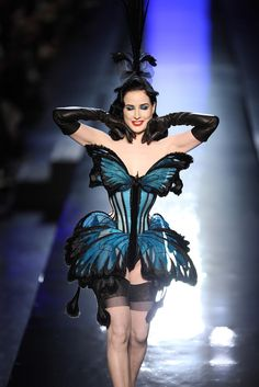 Dita Von Teese Stuns in Jean Paul Gaultier Lingerie  Holy Crappity that is a gorgeous corset!