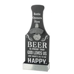 Happy Beer Bottle Opener Beer Bottle Opener, Whiskey Bottle, Gods Love, Fathers Day, Barware, Dads, Happy, Gifts, Presents