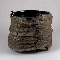 "Wood Fired ""Lava"" Yunomi by Paul Fryman. #woodfiredceramics #yakimono#pottery#ceramics#potterypark #teabowl#paulfryman #teabowl #stoneware #woodfired #yunomi #teaware #wabisabi #handbuilt #woodfiredpottery"