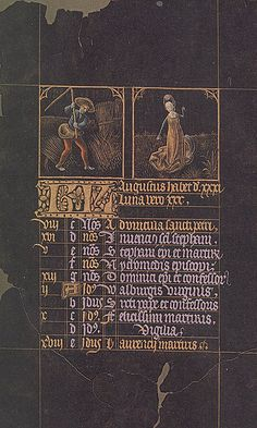Black Hours of Charles the Bold  ~ September