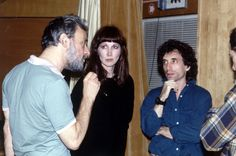 Stephen Sondheim, Joanna Gleason (The Baker's Wife) and Chip Zien (The Baker) - INTO THE WOODS Rehearsal