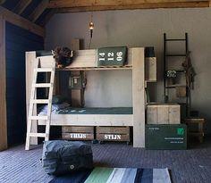 Rustic/industrial Military Themed Kidsu0027 Room Kids Bedroom, Boys Army Bedroom,  Boys