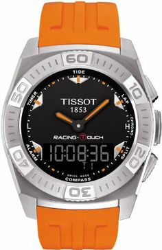 Tissot Men's T002.520.17.051.01 Black Dial Racing Touch Watch Tissot. $418.75. Water resistant to 100 m (330 feet). Sport watch, stainless steel case. Case diameter: 43 mm. Quartz. Antireflective sapphire. Save 33%!