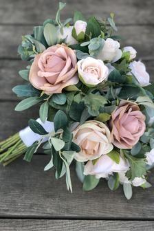 Blush Wedding Flowers, Dusty Rose Wedding, Rose Wedding Bouquet, Blush Pink Weddings, Bridesmaid Flowers, Bride Bouquets, Bridal Flowers, March Wedding Flowers, March Wedding Colors