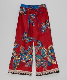 Loving this Red Butterfly Pants - Toddler & Girls on #zulily! #zulilyfinds