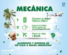 Promoción Ades Gana Viaje a Brasil, Tablets y más Compra cualquiera de los productos participantes en la promoción, conserva los envases e ingresa a la página de la promoción, registrate con tus datos personales, y registra el código unico que viene en los empaques participantes, acumula puntos y... -> http://www.cuponofertas.com.mx/oferta/promocion-ades-gana-viaje-brasil-tablets-y-mas/