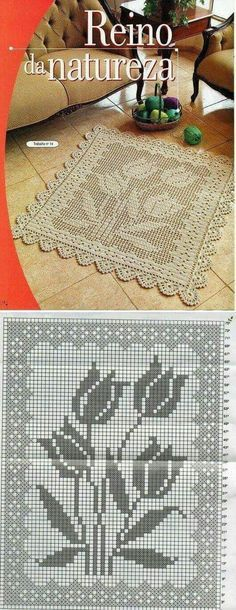 All Crochet: Afghans,Blankets ,Throws, Rugs, Mats. Crochet Doily Patterns, Crochet Squares, Thread Crochet, Crochet Designs, Crochet Doilies, Crochet Stitches, Stitch Patterns, Crochet Carpet, Crochet Home