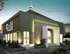 Small Mosque Design is part of Mosque design islamic architecture - House Arch Design, Bungalow House Design, Facade Design, Exterior Design, Design Design, Design Ideas, Mosque Architecture, Religious Architecture, Architecture Plan