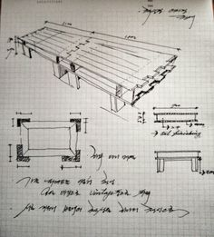 Pallet table drawing