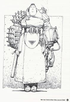 Female Guard, concept character for SF story. Artwork by Oscar Chichoni Character Concept, Character Art, Concept Art, Arte Sketchbook, Bd Comics, Art Graphique, Character Design References, Character Design Inspiration, Creature Design