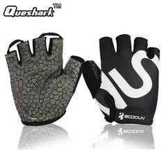 Queshark Gym Gloves Men Women Body Building Half Finger Fitness Gloves An-slip Weight Lifting Sports Training Fingerless Gloves