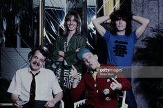 Cheap Trick group shot at a hotel, Tokyo, April 1978.
