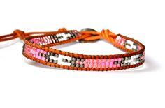 HOLIDAY SALE Pink Beaded Wrap Bracelet by CharlotteCoutureGlam