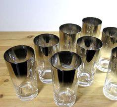 Smoky vintage glassware